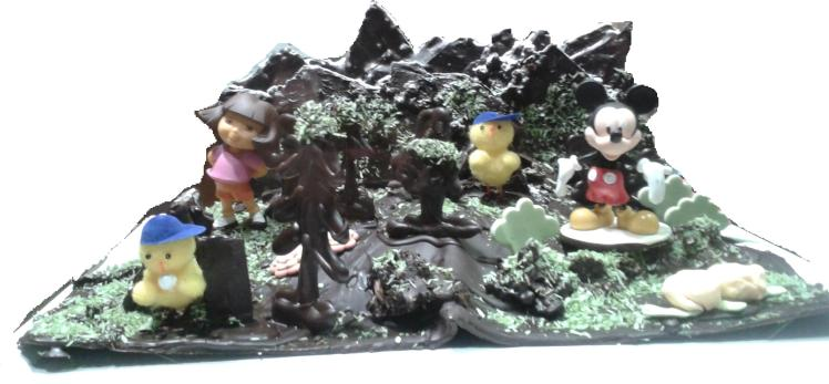 Dora esploradora con Micky Mouse en Los Picos de Europa.