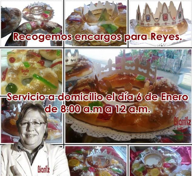 Recogemos encargos de Roscones de Reyes. Reparto el día 6 de 8:00 a.m. a 12:00 a.m. Zona: Gijón. Pedido mínimo 10 €