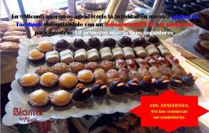 descuento del 10% en su compra de pasteles en la Confitería Biarritz descuento del 10% en su compra de pasteles en la Confitería Biarritz. PASTELES EN LA MEJOR CONFITERÍA DE GIJÓN: PINOCHOS, CASADIELLAS, CARBAYONES, bombas, pasteles de manzana,, trenza de hojaldre y frutos secos, cubilete de almendra, manzana asada, negritos, crucetas, milhojas de crema, milhojas de merengue, milhojas de avellana, petit choux, teresita de crema, teresita de almendra, ochos de hojaldre, lenguas de merengue, bartolos, Piononos, pasteles de bizcocho,
