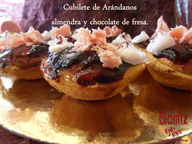 Cubilete de Arándanos Mousse de chocolate y almendra #Diadelamadre #mothersday