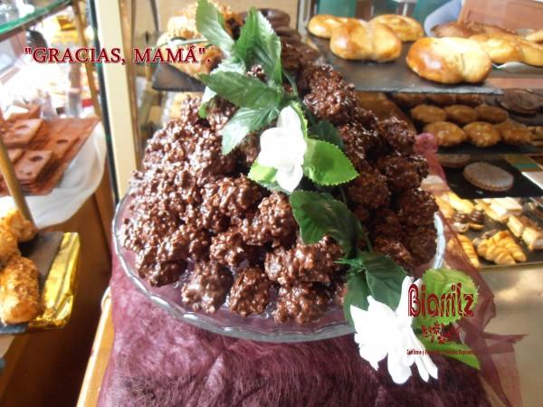 Rocas de chocolate y almendra, para el día de la madre. #Diadelamadre #mothersday
